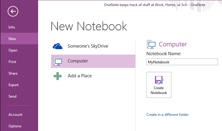 New notebook screen image
